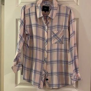 Rails Flannel in Pink and Blue Check - New